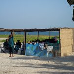 Maria's fresh fruit stall on beach