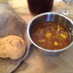 Fish soup with home made roll