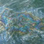 Oil slick on water over the Arizona