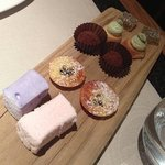 Petit fours including homemade marshmallows