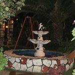 Fountain in restaurant