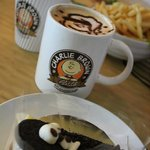 Have a cup of cappu & a piece of cake...