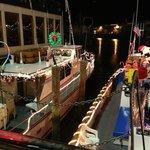 ボートが綺麗に飾られていました