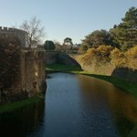 Water galore in Deal Castle moat!