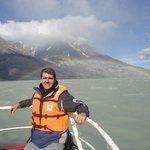 Glaciar Grey com arco-íris