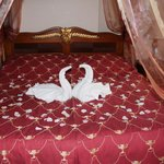 Romantic decorations that came with the bed