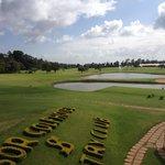 вид на гольф поле