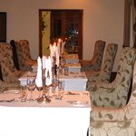 Dining is intimate yet informal