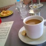 Wonderful Mexican coffee with biscotti