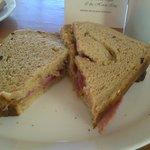 Bacon sandwich on fresh brown bread