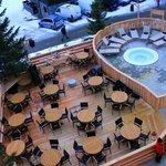 Le jaccuzi sur la terrasse du Cafe Del Mott