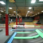 13,000 square feet of trampolines