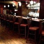 Second-floor bar at Lime Leaf restaurant, Hendersonville, NC