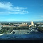 View of Disneyland from room on 12th floor