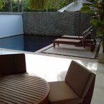 Our unit's outdoor space and plunge pool