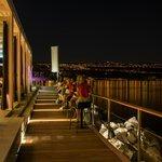 Hotel Bevanda Outside Bar & View of Rijeka