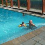 nous avons vraiment bien profité de la piscine un bon espace de jeu