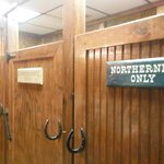 Restrooms - :) LOVE the signs...