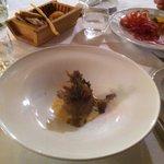 Tortino di carciofi con tartufo nero