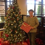 Radisson hotel lobby Christmas Eve.