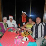 santa and frosty visit our table