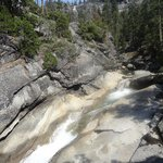 Yosemite NP, Mist Trail, upstream of the Emerald Pool, July 2013