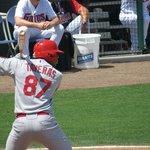 Cardinal's Oscar Taveras at bat
