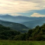Veiw of the Pyrenees from a hke from the Chateau