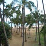 Beach next to hotel