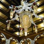Chandelier in the atrium