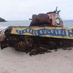 Tank on the beach