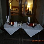 private dinner at our chalet