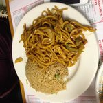 Chow mein and fried rice