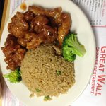 Tso chicken and fried rice