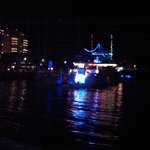 Christmas Lights on Boat - Vinoy's Marina