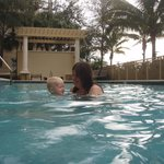 Pool temperature comfortable enough for a one year old to swim in December