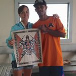 Bubba and the tapa art he designed and painted for us.