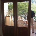 Balcony doors open wide