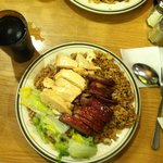 chicken and pork