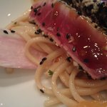 udon and ahi with mandarin and sesame