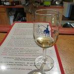 tastings menu and souvenir glass