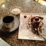 Chocolate cake, with coffee. I'm drooling remembering it!!