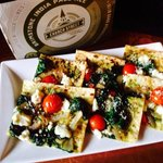 Flat bread pizza special and craft beer