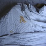 Stained Bed Sheets