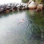 Piscina natural de água salgada