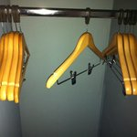 Clothe hangers are detachable and had clips for skirts etc