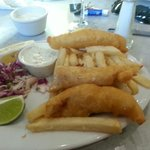Crispy golden fish and chips? NAAA! Don't think so!