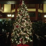 Christmas tree in the restaurant area