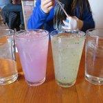 desert pear lemonade and mint lemonade
