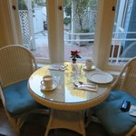 朝食を頂いた席